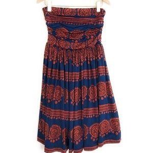 Anthropologie Dresses - Anthropologie Blue/Orange Girls From Savoy